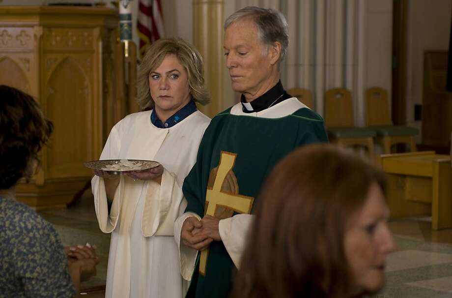 "Emily (Kathleen Turner) and Monsignor Murphy (Richard Chamberlain) appear in a scene in, ""The Perfect Family."" Photo: Oana Marian, Variance Films"