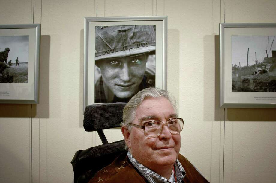 Legendary war photojournalist and two-time Pulitzer Prize-winner, Horst Faas, poses in front of his images at the International Festival of Photojournalism in Perpignan, France in this Sept. 5, 2008, file photo. His daughter, Clare Faas, confirmed her father died on May 10, 2012. He was 79. Faas was born on April 28, 1933, in Berlin, Germany, and his career began in 1951 with the Keystone Agency. He covered the Indochina peace negotiations in Geneva in 1954. He's been with the US news agency Associated Press (AP) since 1956 covering wars in the Congo, Algeria, Vietnam, and Laos. He was AP's chief photographer for Southeast Asia from 1962 to 1974 based in Saigon, and he won the Pulitzer Prize in 1965 for his portfolio of photographs from Vietnam, then again in 1972 for his coverage of the conflict in Bangladesh. He's a winner of the Robert Capa Gold Medal from the Overseas Press Club, and until his retirement from AP in 2004, he was a senior picture editor based in their London bureau.  FILES/AFP PHOTO/JEFF PACHOUDJEFF PACHOUD/AFP/GettyImages Photo: JEFF PACHOUD, AFP/Getty Images / AFP ImageForum