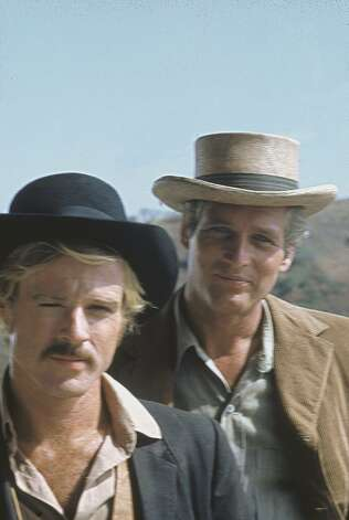 """Butch Cassidy and the Sundance Kid"" A scene from BUTCH CASSIDY AND THE SUNDANCE KID starring Robert Redford, recipient of the Peter J. Owens Award for excellence in acting at the 52nd San Francisco International Film Festival, April 23 - May 7, 2009. Photo: San Francisco Film Festival"