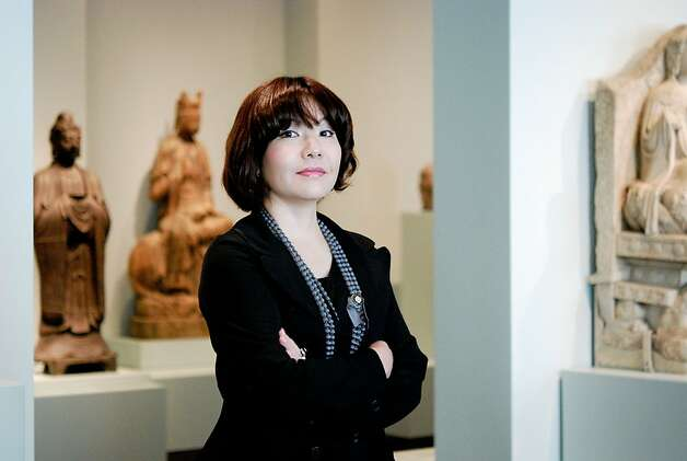 Mami Kataoka, curator of the Mori Art Museum, Tokyo, at the Asian Art Museum, San Francisco Photo: Jennifer Yin, Asian Art Museum