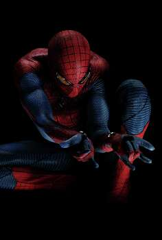 """Andrew Garfield stars as Spider-Man in Columbia Pictures' """"The Amazing Spider-Man."""" Photo: Peter Tangen"""