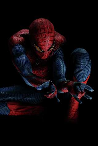 "Andrew Garfield stars as Spider-Man in Columbia Pictures' ""The Amazing Spider-Man."" Photo: Peter Tangen"