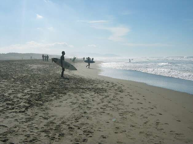 Ocean Beach:  Living just two blocks from Ocean Beach makes it easy to take a brisk walk along the very edge of the city a few times a week. Watching the surfers, happy dogs and seagulls, it s easy to pretend I live in a little beach town instead of a major city. Photo: Eric Rewitzer