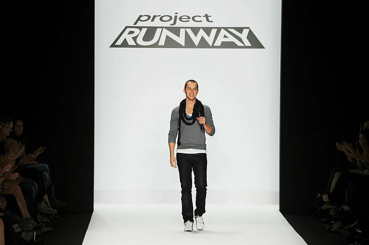 """San Francisco designer Christopher Collins showed at New York Fashion Week Sept. 9 as part of the """"Project Runway"""" decoy show."""
