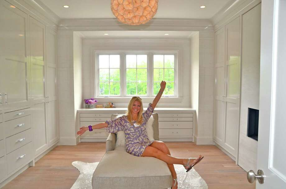 Nancy Roeder fantasizes this dressing room as her own during the New Canaan CARES Kitchen & Home Tour, Thursday, May 10, 2012. Photo: Jeanna Petersen Shepard