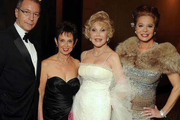From left: Terry Zymslo, Evelyn Leightman, Joanne King Herring and Cindi Rose at the Silver Reflections 25th Annual Winter Ball: A Celebration of Houston's Finest benefitting the Crohn's and Colitis Foundation Houstonat the Hilton Americas Hotel Saturday Jan. 28,2012. (Dave Rossman/For the Chronicle)