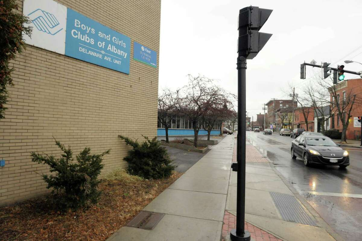 A view of the Boys and Girls Club of Albany along Delaware Avenue in Albany, NY. (Paul Buckowski / Times Union)