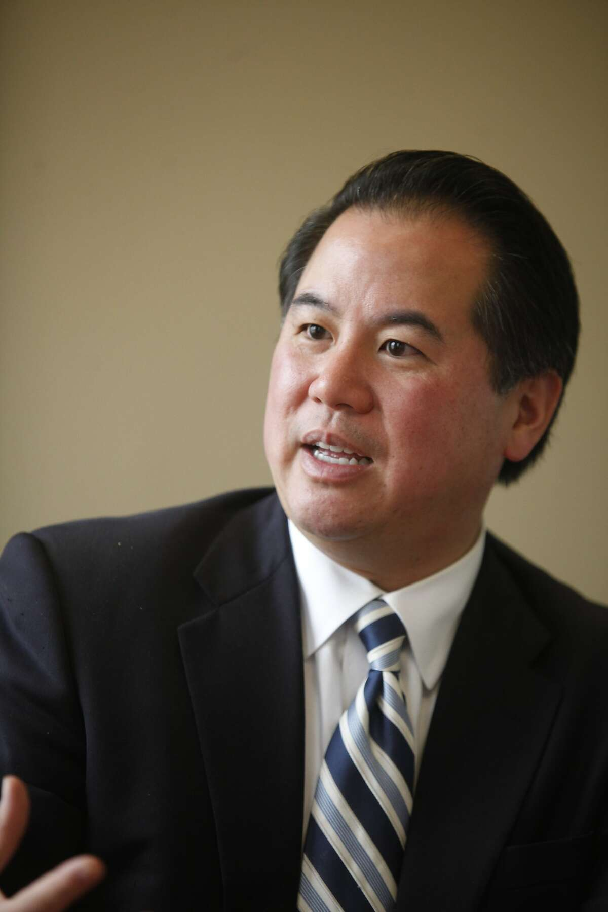 San Francisco Mayoral candidate, Phil Ting, the current Assessor-Recorder of San Francisco, talks about his platform in the San Francisco Chronicle board meeting on Wednesday Oct. 5, 2011 in San Francisco, Calif.