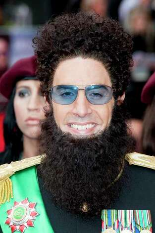 Sacha Baron Cohen arrives for the World Premiere of 'The Dictator', at a central London cinema. Thursday, May 10, 2012. Photo: Jonathan Short, . / AP