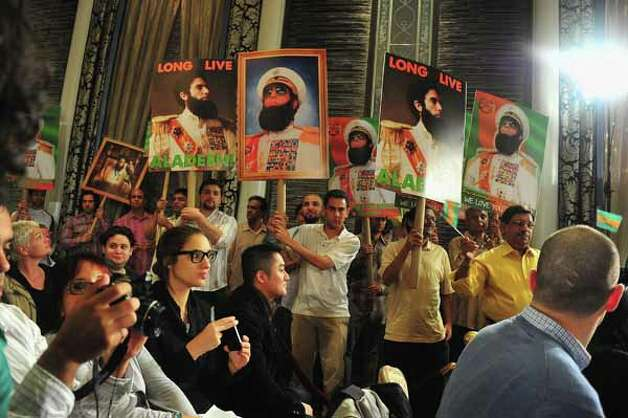 "NEW YORK, NY - MAY 07:  Event atmosphere during  ""The Dictator"" Press Conference at The Waldorf=Astoria on May 7, 2012 in New York City. Photo: Theo Wargo, . / 2012 Getty Images"