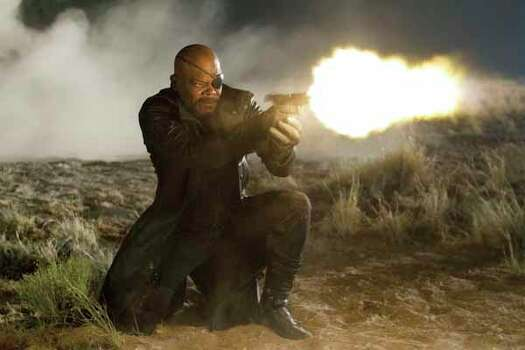 """In this film image released by Disney, Samuel L. Jackson portrays Nick Fury in a scene from Marvel's """"The Avengers.""""  The film will be released on May 4. Photo: Zade Rosenthal, . / © 2011 MVLFFLLC.  TM & © 2011 Marvel.  All Rights Reserved. © 2011 MVLFFLLC.  TM & © 2011 Marvel.  All Rights Reserved."""