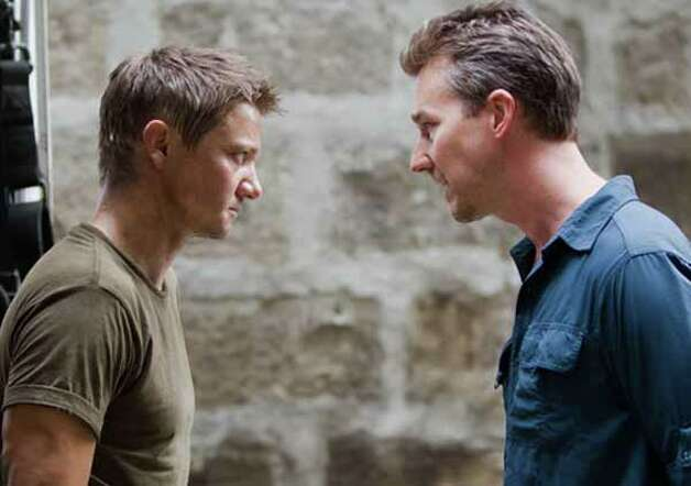 "Jeremy Renner and Edward Norton in ""The Bourne Legacy."" Photo: ."
