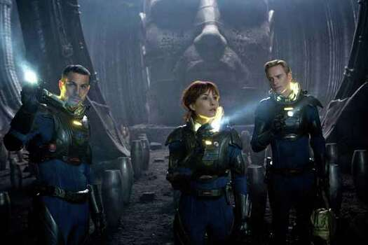 """""""Prometheus  opens June 8. The cast includes Patrick Wilson, Noomi Rapace and Michael Fassbender. Photo: Provided, . / TM and © 2011 Twentieth Century Fox Film Corporation.  All rights reserved.  Not for sale or duplication."""