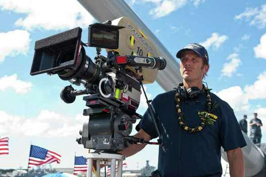 """In this film publicity image released by Universal Pictures, Director/producer Peter Berg is shown on the set during the filming of """"Battleship."""" Photo: Photo Credit: ILM/Universal Pict, . / Copyright: © 2012 Universal Studios. ALL RIGHTS RESERVED."""