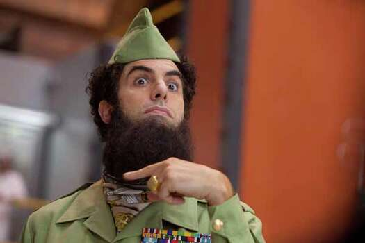 """In this film image released by Paramount Pictures, Sacha Baron Cohen, portrays Admiral General Aladeen in a scene from """"The Dictator."""" Photo: Melinda Sue Gordon, . / © 2012 Paramount Pictures.  All Rights Reserved."""