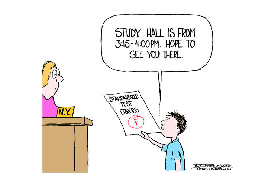 Errors found on NY standardized tests. Photo: John De Rosier