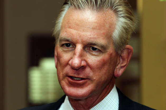 Texas Tech football coach Tommy Tuberville speaks Thursday, May 10, 2012, at the Scottish Rite Banquet Center. Tuberville and other Texas Tech coaches and personnel were in San Antonio to visit with alumni and supporters during the Red Raider Club Tailgate Tour. Photo: San Antonio Express-News