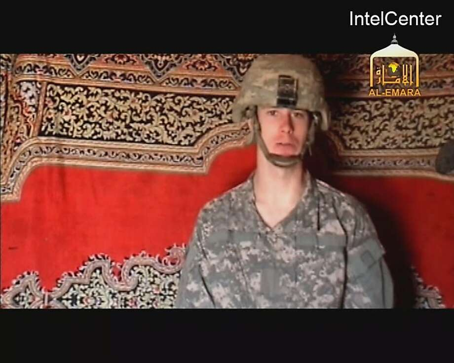 This is an image from video made available by IntelCenter shows a video frame grab from the Taliban propaganda video released Friday purportedly showing U.S. soldier Pfc. Bowe Bergdahl, 23, of Ketchum Idaho who was captured more than five months ago in eastern Afghanistan. It could not be confirmed immediately that it was Bergdahl in the new video, which was released to The Associated Press and other news organizations. The man identifies himself as Bergdahl, born in Sun Valley, Idaho, and gives his rank, birth date, blood type, his unit and mother's maiden name before beginning a lengthy verbal attack on the U.S. conduct of the war in Afghanistan and its relations with Muslims. Photo: AP
