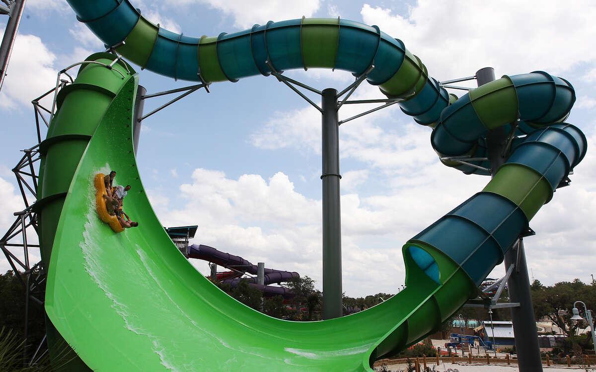 Walhalla Wave is part of SeaWorld San Antonio's new Aquatica. The ride features a 720-degree corkscrew spiral.