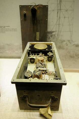 A geophone, dating from the 1920s, was used to sense underground vibrations. It was used in mineral exploration. It is on display at the South Texas Heritage Center. May 9, 2012. Billy Calzada / San Antonio Express-News Photo: BILLY CALZADA, San Antonio Express-News / SAN ANTONIO EXPRESS-NEWS
