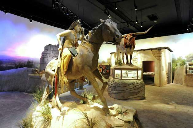 A figure of a Comanche hunter and warrior is on display in the South Texas Heritage Center. May 9, 2012. Billy Calzada / San Antonio Express-News Photo: BILLY CALZADA, San Antonio Express-News / SAN ANTONIO EXPRESS-NEWS