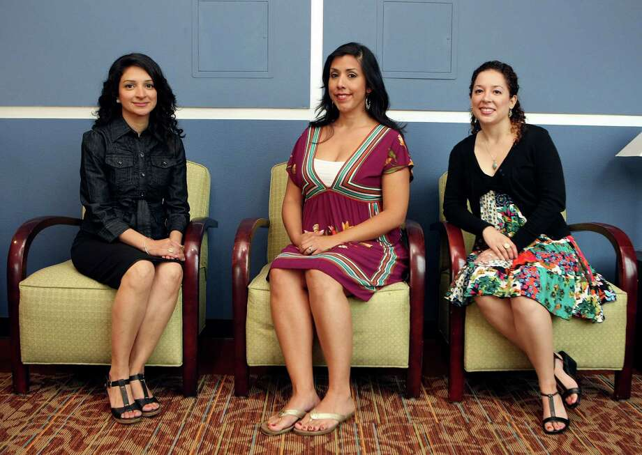 METRO: Patricia Portales,  Margaret Cantu-Sanchez, and Candace de Leon -Zepeda are receiving their doctorate degrees in English from UTSA this weekend.  While Latinos make up 15 percent of the U.S. population, they account for only 3.6 percent of the doctoral degrees awarded in the United States and can be counted in the low thousands.   Helen L. Montoya/San Antonio Express-News Photo: HELEN L. MONTOYA, SAN ANTONIO EXPRESS-NEWS / ©2012 HELEN MONTOYA PHOTOGRAPHY