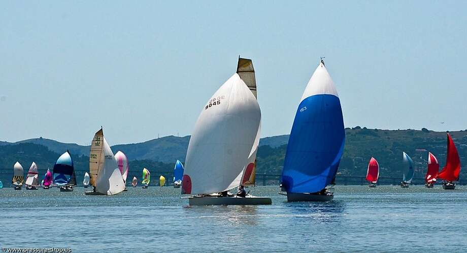 Some 230 boats sailed in the Great Vallejo Race from Treasure Island to Vallejo on May 5, historically the nation s largest inland race. Photo: Erik Simonson / Pressure-drop.us