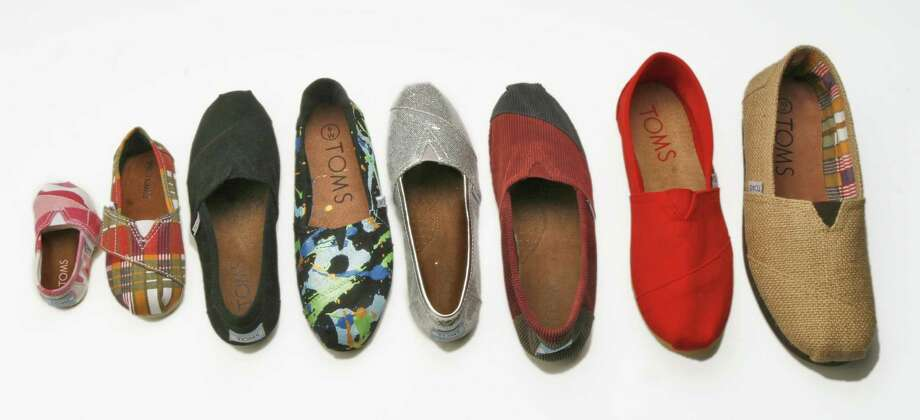 "For every pair of TOMS (derived from ""Shoes for Tomorrow"") shoes he sells, Blake Mycoskie donates a pair. Mycoskie, author of ""Start Something that Matters,"" spoke at the Barbara Bush Celebration of Reading. Photo: O'LEARY / THE WASHINGTON POST"