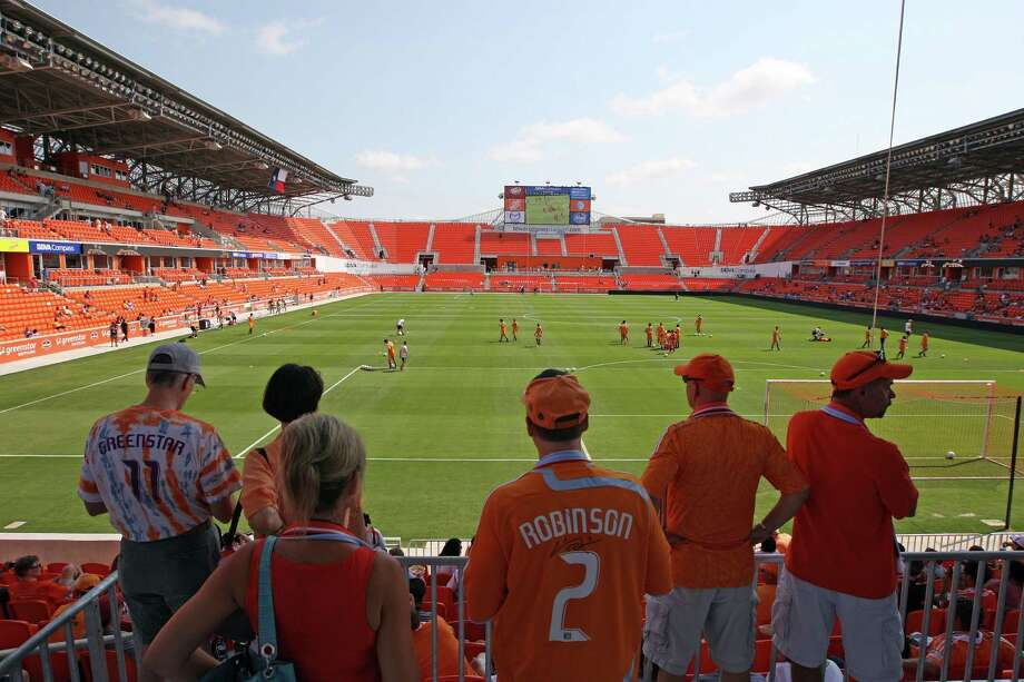 After seeing their team open the season with seven games on the road, hometown fans will finally get their first glimpse of Dynamo game action in the newly completed BBVA Compass Stadium, which opens this afternoon with a match against D.C. United. Photo: James Nielsen / © Houston Chronicle 2012