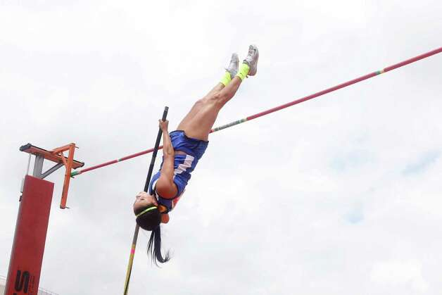 Nicole Casper of Buna competes in the 2A girls pole vault during the  UIL Track & Field State Championships at Mike A. Myers Stadium at the University of Texas at Austin. May 11, 2012.  Valentino Mauricio/The Enterprise Photo: Valentino Mauricio