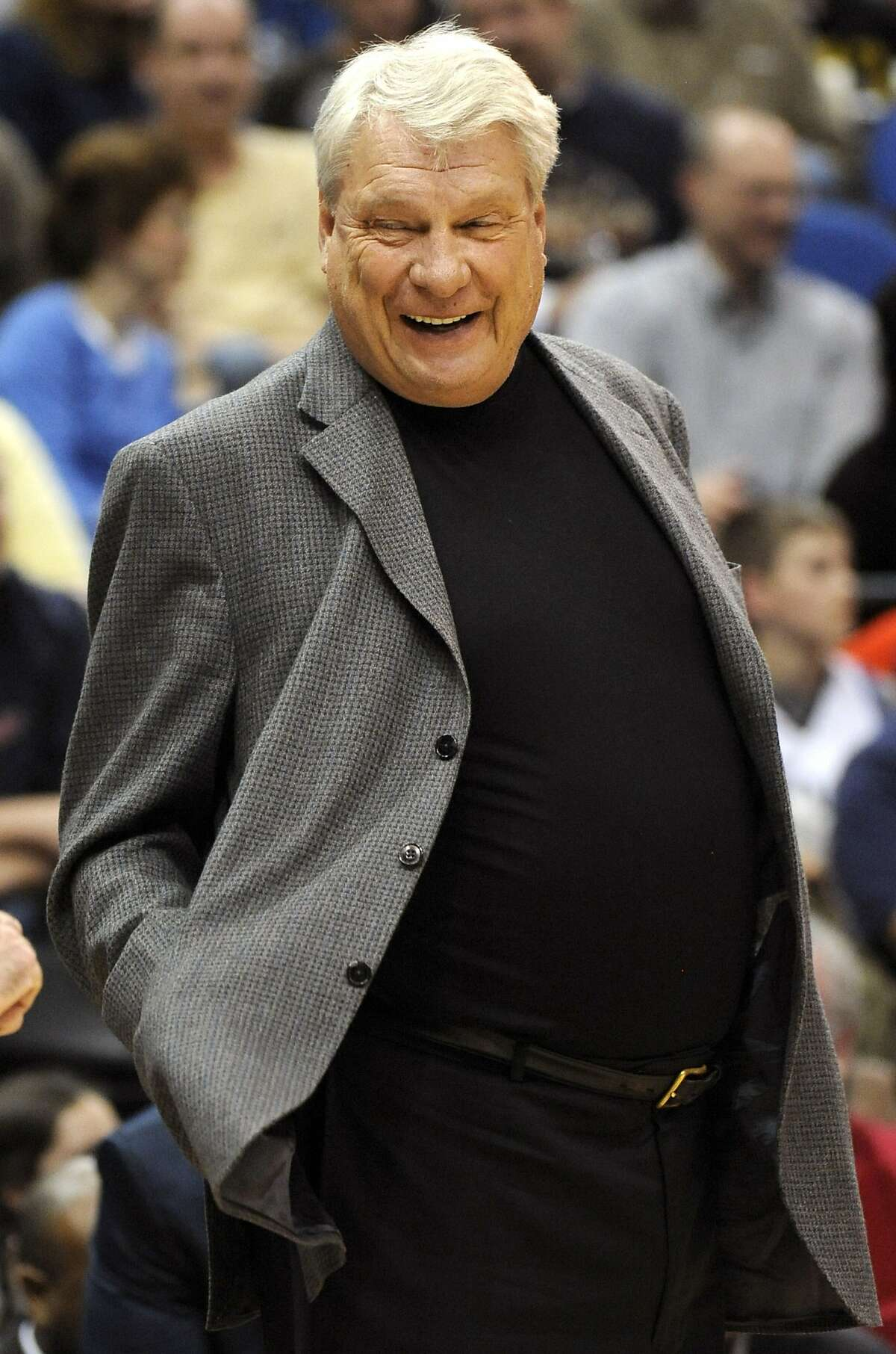MINNESOTA, MN - FILE: Head coach Don Nelson of Golden State Warriors in the first half against the Minnesota Timberwolves during a basketball game at Target Center on April 7, 2010 in Minneapolis, Minnesota. It was reported that head coach Don Nelson was elected to the Basketball Hall of Fame April 2, 2012. (Photo by Hannah Foslien /Getty Images)