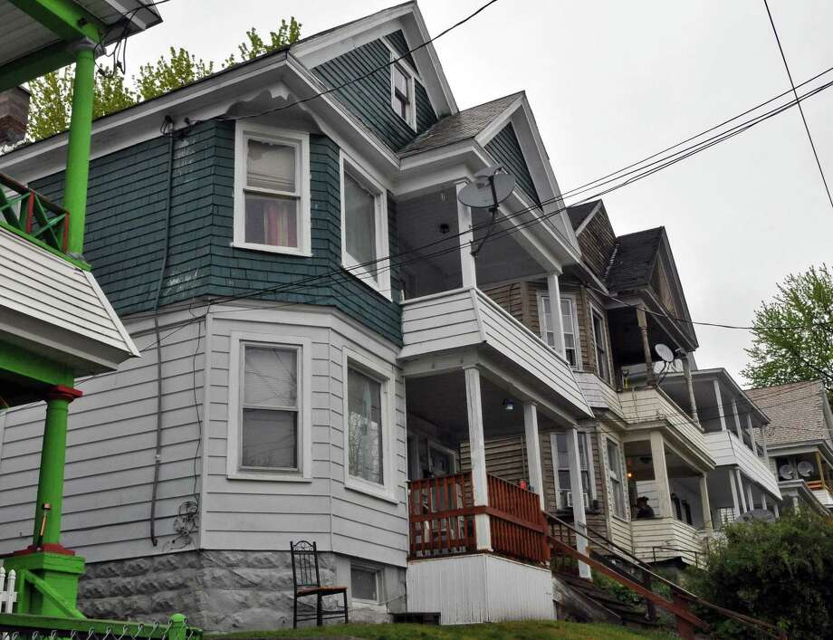 Latoya Ebron was fatal stabbed last year during an argument at this Elm Street location in Schenectady N.Y. Tuesday May 1, 2012. (John Carl D'Annibale / Times Union) Photo: John Carl D'Annibale / 00017500A