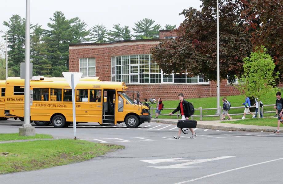 Students are let out of school at the end of the day at Bethlehem Middle School Wednesday, May 9, 2012 in Delmar, N.Y. (Lori Van Buren / Times Union) Photo: Lori Van Buren