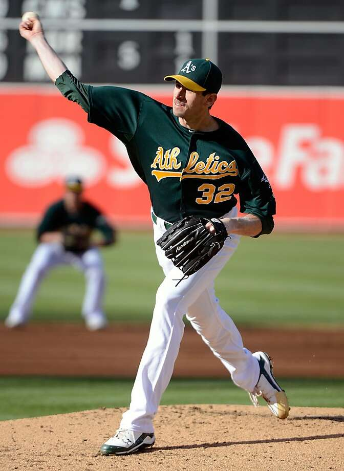 OAKLAND, CA - MAY 12:  Brandon McCarthy #32 of the Oakland Athletics pitches against the Detroit Tigers at O.co Coliseum on May 12, 2012 in Oakland, California.  (Photo by Thearon W. Henderson/Getty Images) Photo: Thearon W. Henderson, Getty Images