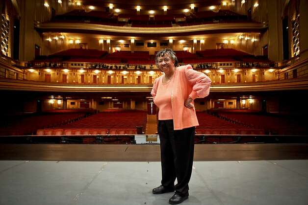 San Francisco Opera board member Sylvia Lindsey is seen center stage at the War Memorial Opera House on Friday, April 13, 2012 in San Francisco, Calif. Photo: Russell Yip, The Chronicle