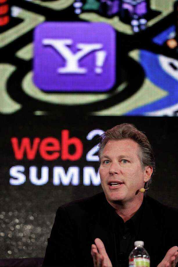 FILE - In this Oct. 17, 2011 file photo, Ross Levinsohn, Yahoo Executive Vice President of Americas, speaks at the Web. 2.0 Summit in San Francisco. Scott Thompson, named CEO of Yahoo in January, reportedly will step down Sunday, May 13, 2012 amid controversy over mentions on his resume and in regulatory filings of a computer science degree he never received. Yahoo says it is appointing Levinsohn as interim CEO and Fred Amoroso as chairman of its board, effective immediately. (AP Photo/Paul Sakuma, File) Photo: Paul Sakuma / AP2011