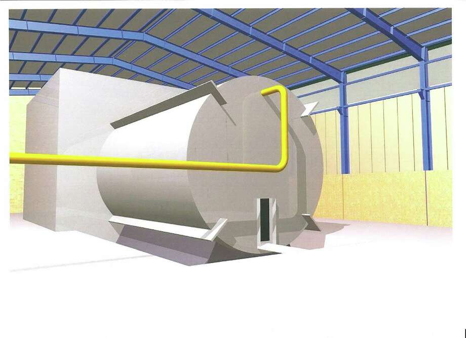 This rendering, said to come from inside Iran's Parchin military site, purportedly shows a chamber of the type needed for nuclear arms-related tests that U.N. inspectors suspect Tehran has conducted. / AP