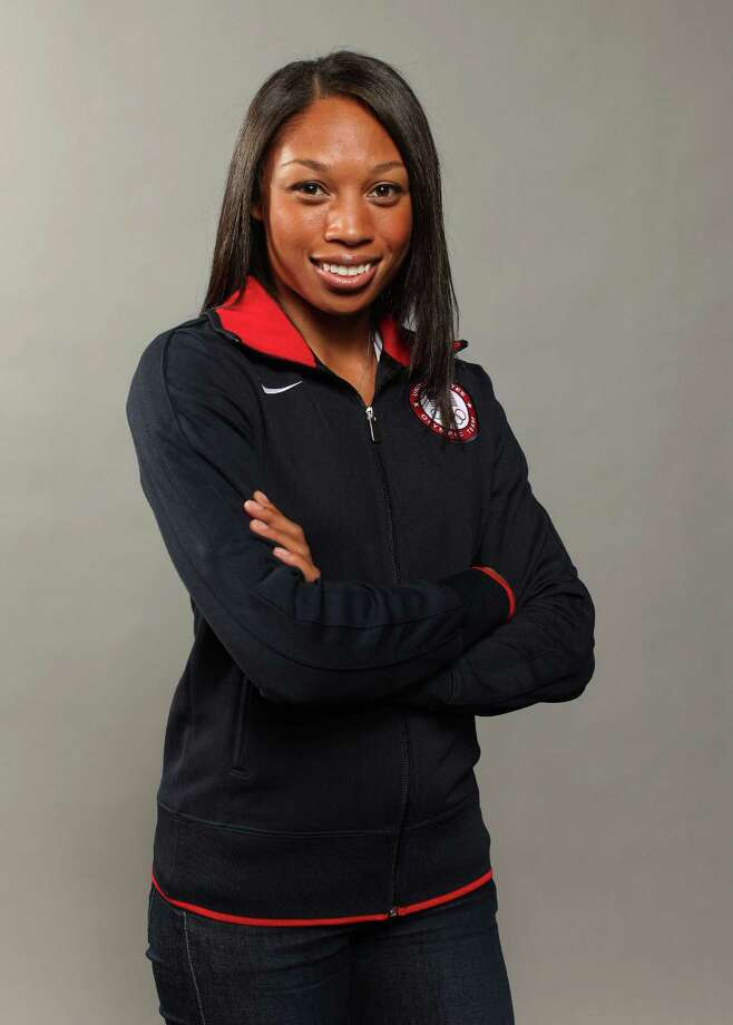 DALLAS, TX - MAY 13:  Track athlete, Allyson Felix  poses for a portrait during the 2012 Team USA Media Summit on May 13, 2012 in Dallas, Texas. Photo: Nick Laham, Getty Images / 2012 Getty Images