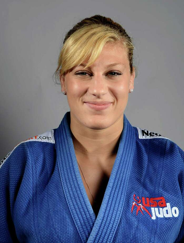 Kayla Harrison of the US Judo Olympic team  poses for pictures during the 2012 Team USA Media Summit on May 13, 2012 in Dallas,Texas.AFP PHOTO/JOE KLAMARJOE KLAMAR/AFP/GettyImages Photo: JOE KLAMAR, AFP/Getty Images / AFP