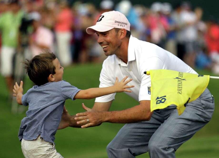 For Cameron Kuchar, left, his father's day turned out to be one to remember. Photo: David Goldman / AP