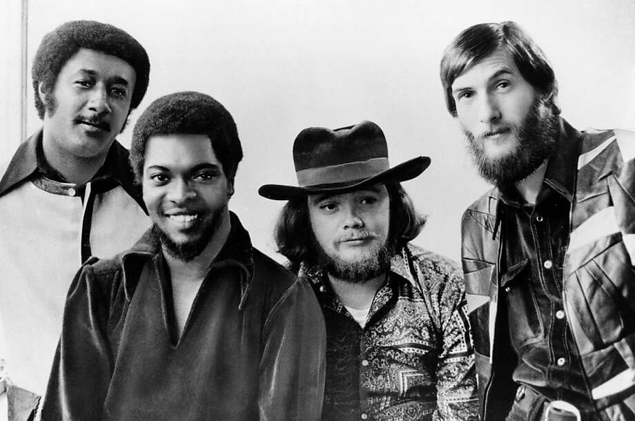 "FILE - Soul rockers Booker T and the MGs are seen in this Jan. 1970 file photo, from left to right: Al Jackson, Jr., Booker T. Jones, Donald ""Duck"" Dunn, and Steve Cropper. Bass player and songwriter Donald ""Duck"" Dunn, a member of the Rock 'n' Roll Hall of Fame band Booker T. and the MGs and the Blues Brothers band, died in Tokyo Sunday May 13, 2012. He was 70.  (AP Photo, File) Photo: Anonymous, Associated Press"