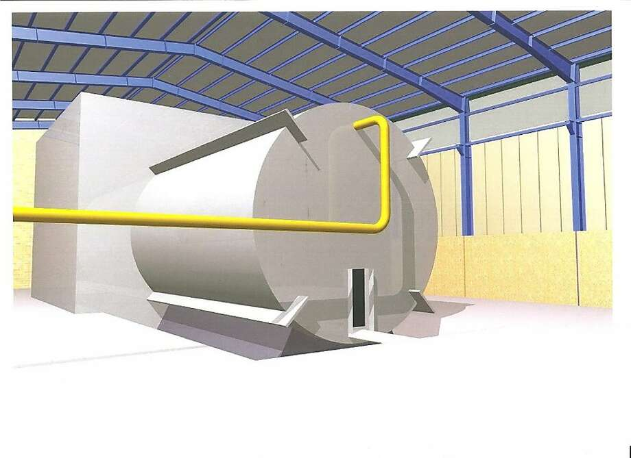 This undated rendering said to come from inside Iran's Parchin military site and obtained by The Associated Press from an official of a country tracking Iran's nuclear activities, shows a chamber of the type needed for nuclear arms-related tests that U.N. inspectors suspect Tehran has conducted at the site. The official demanded that he and his country remain anonymous in exchange for sharing secret intelligence information. Any evidence that such a structure exists is significant in International Atomic Energy Agency attempts to investigate the alleged experiments. (AP Photo) Photo: Associated Press
