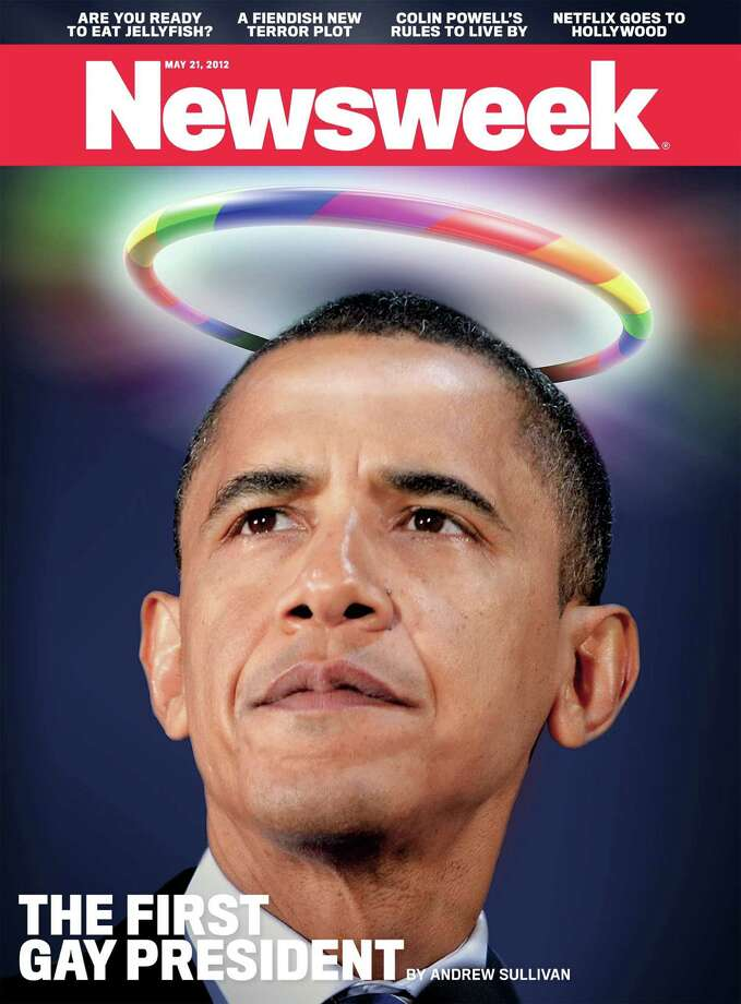 "This Newsweek cover will appear later this month, declaring President Barack Obama as the ""first gay president,"" following his recent admission that he supports same-sex marriage. Photo: Newsweek."