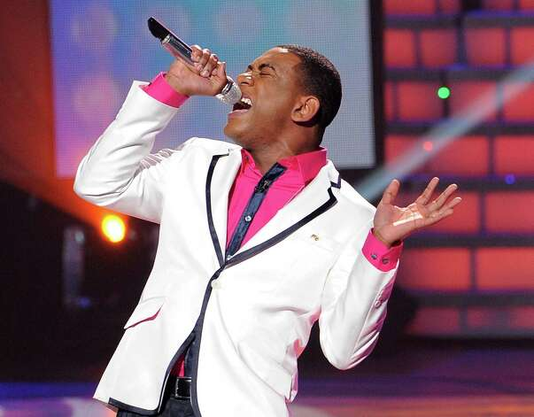 "FILE - In this April 11, 2012 file photo released by Fox, Joshua Ledet performs on the singing competition series ""American Idol,"" in Los Angeles. The powerful 20-year-old gospel singer from Westlake, La., got the Fox talent contest's judges on their feet again Wednesday April 25, 2012 after his energetic take on Queen's ""Crazy Little Thing Called Love"" and restrained rendition of India.Arie's ""Ready for Love.""  (AP Photo/Fox, Michael Becker, File) Photo: Michael Becker, HONS"