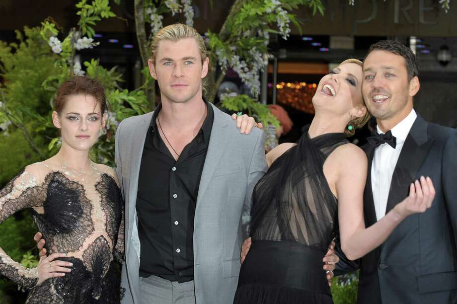 Actors  Kristen Stewart, Chris Hemsworth, Chalize Theron and Director Rupert Sanders attend the World Premiere of 'Snow White And The Huntsman' at The Empire and Odeon Leicester Square on May 14, 2012 in London, England. Photo: Ben Pruchnie, Getty Images / 2012 Getty Images