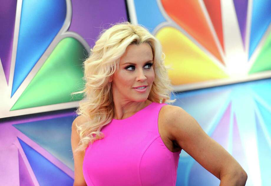 """Love In The Wild"" host Jenny McCarthy arrives for the NBC network upfront presentation at Radio City Music Hall, Monday, May 14, 2012 in New York. (AP Photo/Evan Agostini) Photo: Evan Agostini, Associated Press / AGOEV"