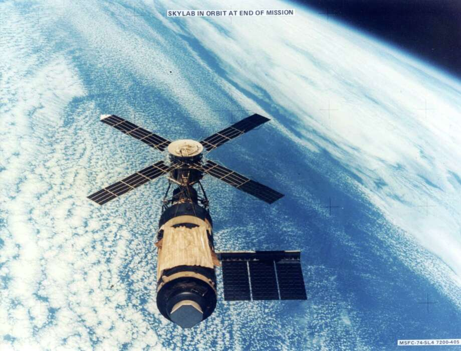Skylab, the first United States manned space station, was launched on May 14, 1973. Here it is shown in orbit at the end of its mission in 1979 when it crashed back to Earth. The orbiting lab was designed by engineers at the Marshall Space Flight Center in Huntsville, Ala. (AP Photo/NASA) Photo: Anonymous, HO / AP1973