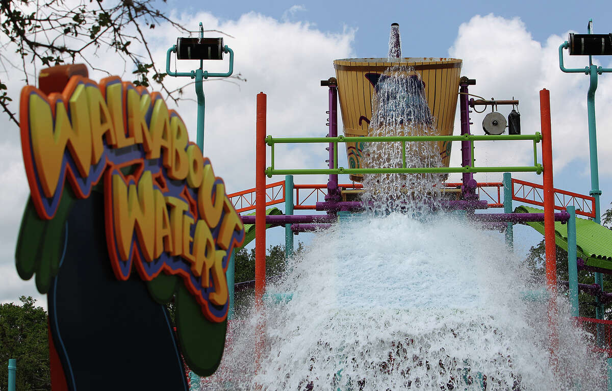 """SeaWorld San Antonio's latest water attraction, Aquatica, will open to the public Saturday. The water park features the attraction Walkabout Waters which has a three-level water """"funhouse"""" for all ages."""