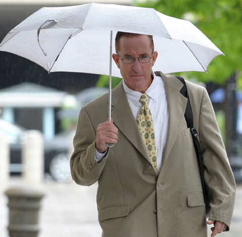Former trainer Brian McNamee arrives at the federal court in Washington in May. McNamee, Roger Clemens' chief accuser, testified against the former pitcher.   (Susan Walsh / Associated Press) Photo: Susan Walsh, Associated Press / AP