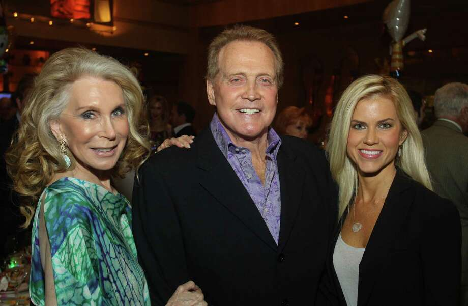 Joan Schnitzer Levy, left, with Lee and Faith Majors at the ESCAPE Celebrity Serve benefit at Tony's. Photo: Gary Fountain / Copyright 2012 Gary Fountain.